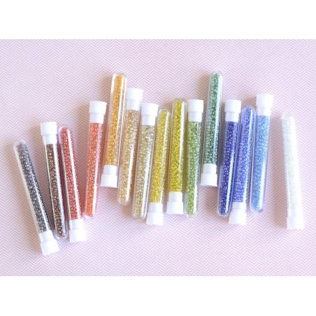 Acheter Tube de 350 perles transparentes lustrées - bleu azur - 0,99€ en ligne sur La Petite Epicerie - Loisirs créatifs