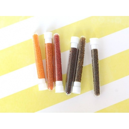 Tube of 350 transparent beads - dark orange