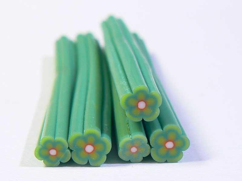 Daisy cane - dark green