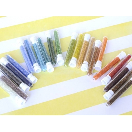 Tube of 350 transparent beads - buttercup