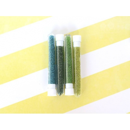 Tube of 350 transparent beads - apple green