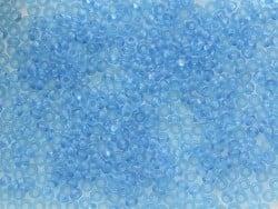Tube de 350 perles transparentes - turquoise foncé