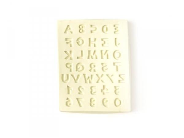 Moule en silicone Chiffres et Lettres