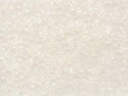 Röhrchen mit 350 durchsichtigen Perlen - weiß