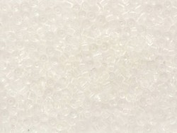 Tube of 350 transparent beads - white