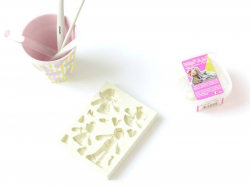 Pink silicone mould - Numbers