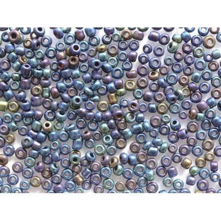 Tube de 350 perles métallisées - océan