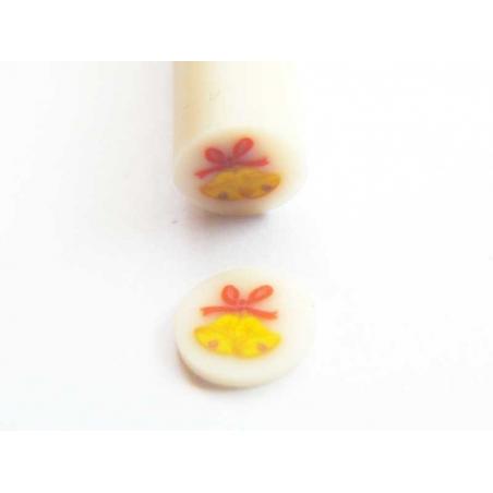 Cane cloches de Noël- en pâte polymère - à trancher  - 2