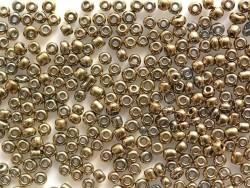 Tube de 350 perles métallisées - bronze