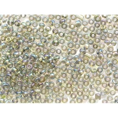 Tube de 350 perles métallisées - transparent métallisé