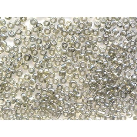 Tube de 350 perles transparentes lustrées - noir