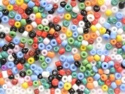 Tube de 350 perles de rocailles opaques  - assortiment