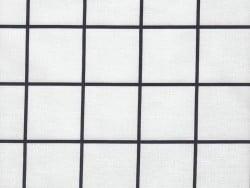 Tissu carreaux - noir Rico Design - 1