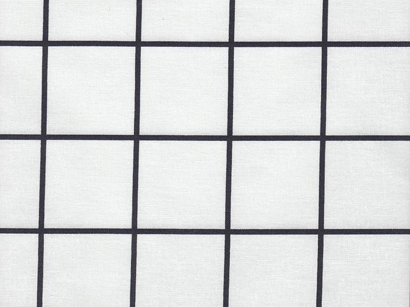 Chequered fabric - black