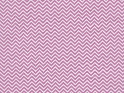 Fabric with a zigzag pattern - pink