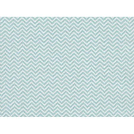 Tissu chevrons - vert d'eau