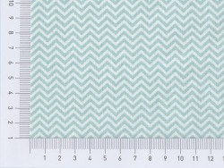Fabric with a zigzag pattern - sea green
