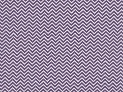 Tissu chevrons - violet