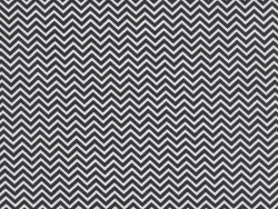 Fabric with a zigzag pattern - black