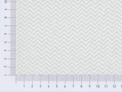 Fabric with a zigzag pattern - grey