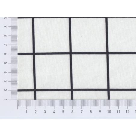 Tissu carreaux - noir Rico Design - 2
