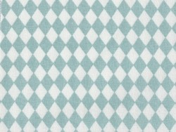Fabric with a diamond pattern - Sea green