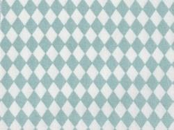 Tissu losanges - vert d'eau Rico Design - 1