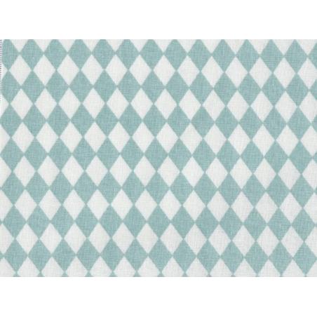 Fabric with a diamond pattern - Sea green