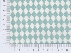 Tissu losanges - vert d'eau