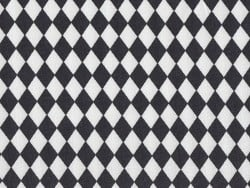 Fabric with a diamond pattern - black