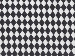 Tissu losanges - noir Rico Design - 1