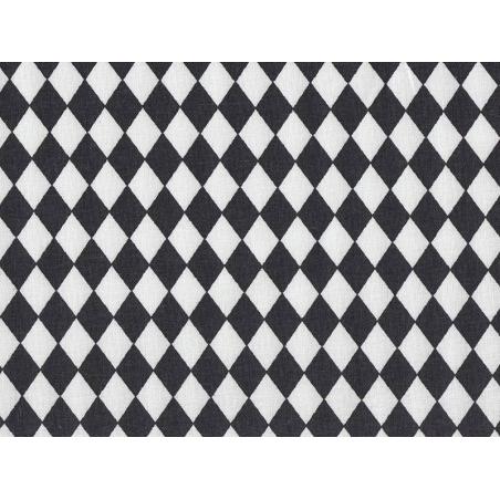 Fabric with a diamond pattern - black