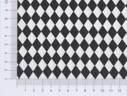 Tissu losanges - noir