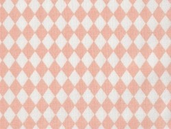 Fabric with a diamond pattern - Powder pink