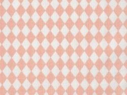 Tissu losanges - rose poudré