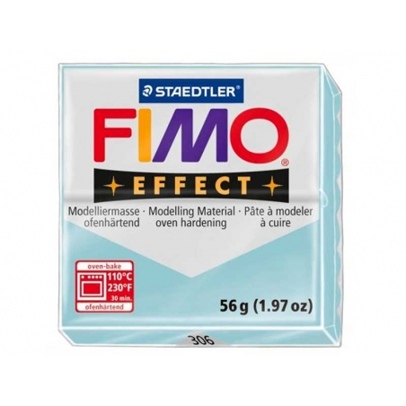 Pâte Fimo EFFECT Pailletée  Bleu Quartz glacier  306