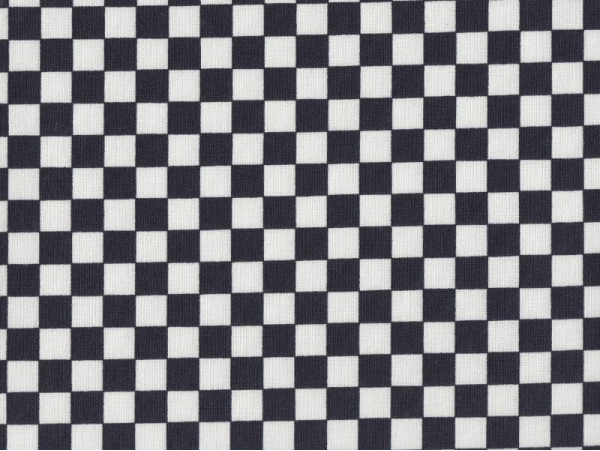 Fabric with a chequerboard pattern - black