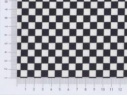 Tissu damier - noir