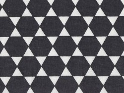 Fabric with a hexagonal pattern - black