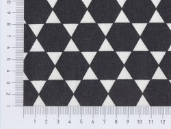 Tissu hexagones - noir