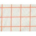 Tissu carreaux - orange fluo