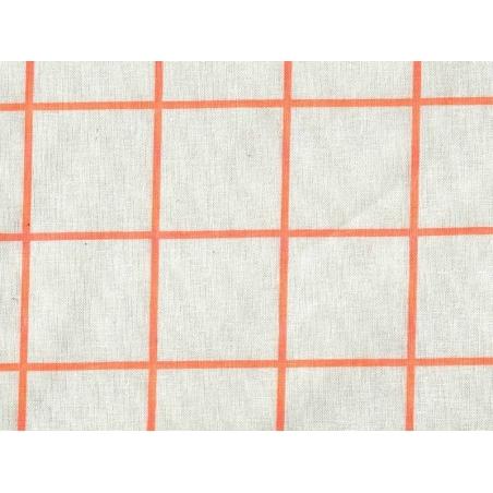 Chequered fabric - neon orange