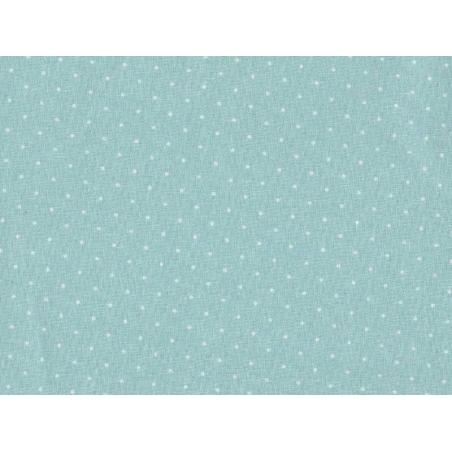 Tissu à pois - menthe