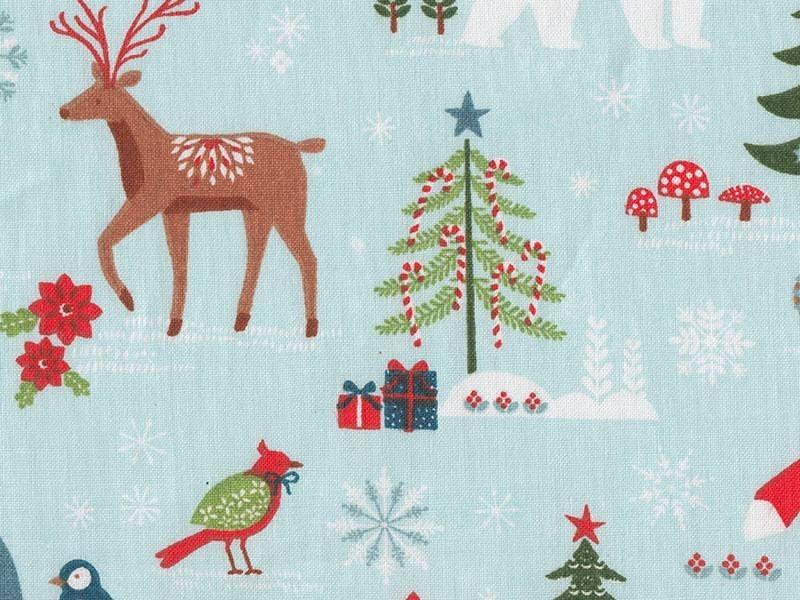 Printed fabric - winter