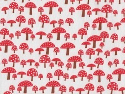 Printed fabric - mushrooms