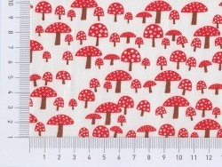 Printed fabric - mushrooms