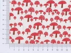 Tissu imprimé - champignons