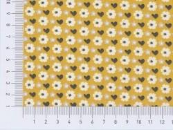 Tissu imprimé - jaune fleuri