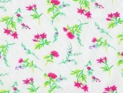 Bedruckter Stoff - rosafarbene Blumen