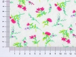 Printed fabric - Pink flowers